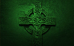 celtic-cross-green-background-64046879